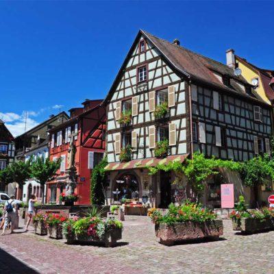Dans les rues de Colmar en Alsace