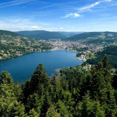 Belle vue du Lac de Gerardmer depuis la tour de Merelle