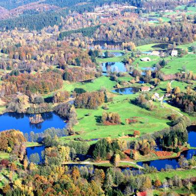 Plateau Mille Etangs dans les Vosges et la Haute Saune